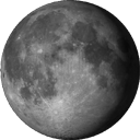 Убывающая Луна после полнолуния